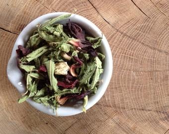 Lemon Verbena Tonic - spring - Lemon Verbena, Hibiscus & Ginger Root Loose Leaf Tea - 40g