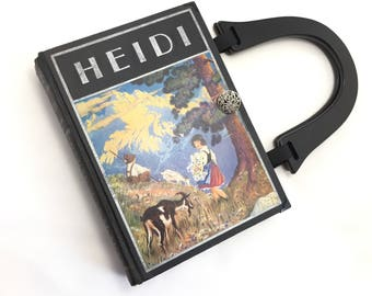 Heidi Book Purse - Heidi Book Clutch - Book Cover Handbag - Bookish Gift - Gift for Readers - Mothers Day Gift - Purse made from a book