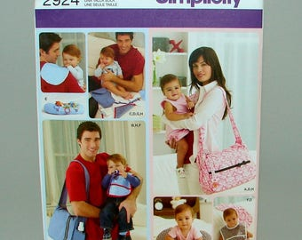 Baby Diaper Bag Bib Pillow Changing Pad Simplicity 2924 Sewing Pattern Uncut Out of Print