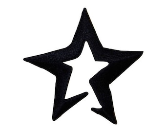 306ad715f0e ID 3457C Blue Notched Star Patch Patriotic Craft Embroidered Iron On  Applique