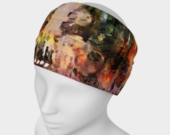 Unisex Wrap City Art Yoga Headband Fitness Bandana Dance Hair Accessories Chemo Headwrap Womens Clothing Bohemian Clothes Urban Art Scarf