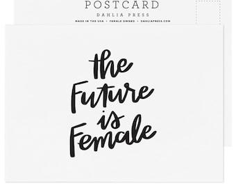 The Future Is Female Postcard - Single