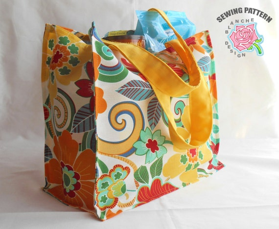 Reusable Grocery Bag Sewing Pattern Reusable Shopping Bag