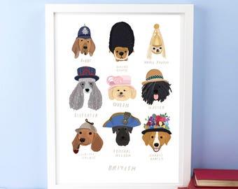 British Dogs Print