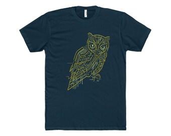 Electrical Owl T ShirtMenS Cotton Crew Tee