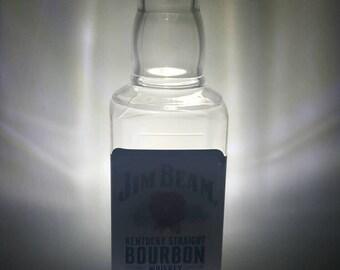 Jim Beam whiskey LED dusk to dawn night light.