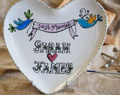 Heart Plate Wedding Gift...