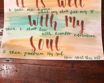 It is well/ How Great Thou Art