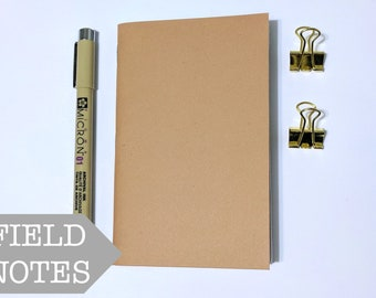 Field Notes Insert // Kraft Cover Fauxdori Journal - Bullet Journal - Blank Planner Notebook - Fountain Pen Friendly Paper