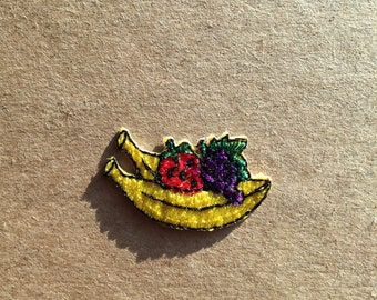 Fruit , banana/grapes/strawberry iron on patch