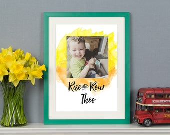Rise and Roar Personalised Photo A3 Print