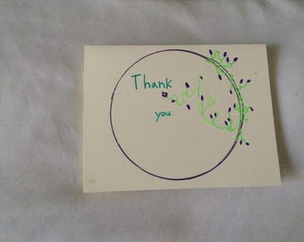 pretty thank you card