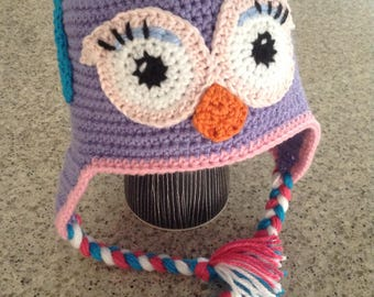Crochet Winter Earflap Beanies, any size MADE TO ORDER