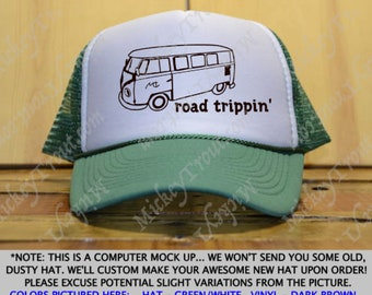 Roadtrippin' Trucker Hat / Van Trucker Hat / Road Trip Trucker Hat / Traveling Trucker Hat / Trip Hat