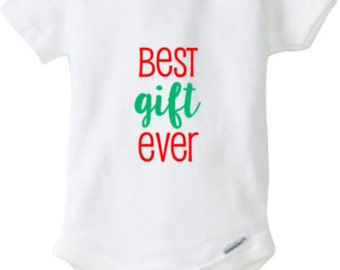Christmas outfit, christmas shirt, first christmas, Best Gift Ever, Christmas, Snap-tee, Snapsuit, Bodysuit, Creeper, or one-piece