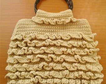 Crochet Ruffle Purse