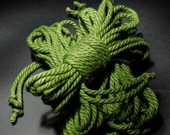 Jute Rope Kit for Shibari / Kinbaku - Kelly Green