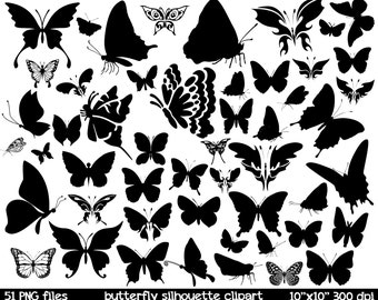 Butterfly clipart | butterfly silhouette clipart | butterfly digital item | butterfly clip art | butterfly silhoette clip art printable