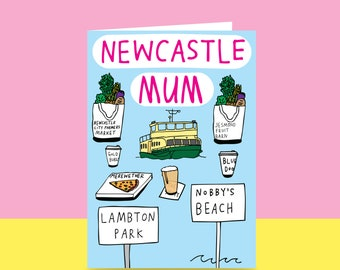 Mother's Day Card - Newcastle Mum