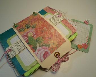 JUNK JOURNAL- Over 80 Pages & Items-Handmade Journal-Ephemera-Paper Pack-Smash Journal-Art Journal-Travel Journal