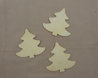 Wooden subjects embellishment: trees