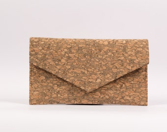 Cork Clutch-Wood Clutch-Eco Friendly Purse-Vegan Bag-Handmade Bag-Gift for Her-Cork Bag-Cork Purse-Hipster Clutch-Hipster Bag-Vegan Fashion
