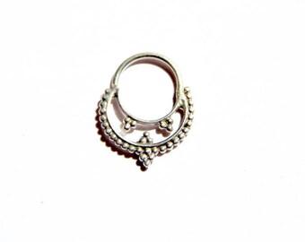 Silver septum Odissi/ Ethnic septum/ Fashion nose ring/ Boho jewelry