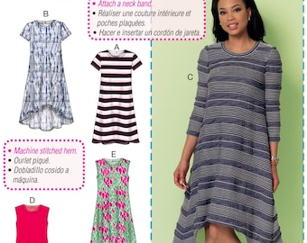 Learn to Sew a Dress Pattern, Easy Pullover Dress Pattern, Beginner Sewing Dress Pattern, McCall's Sewing Pattern 7348