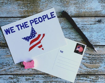 We The People // Resistance // Political Postcard // ACLU // Printable // Digital Download