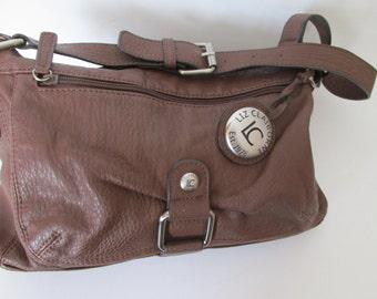 Brown Leather HandBag Designer Purse Brown Purse Vintage Liz Claiborne Purse Brown Leather Shoulder Bag