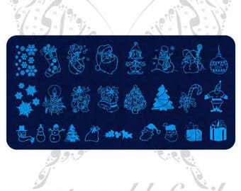 Christmas Nail Art Stamping Plate Template Collection 1