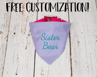 Pregnancy Announcement - Baby Announcement - Pregnancy Reveal -Custom Dog Bandana - Baby Reveal -Big Sister Dog Bandana- Sister Bear Bandana