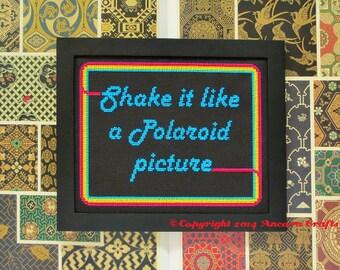 Shake it like a Polaroid Cross Stitch Pattern PDF