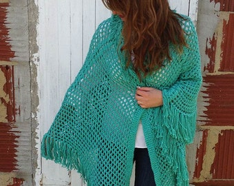 Italian Cape Crochet Pattern - PDF