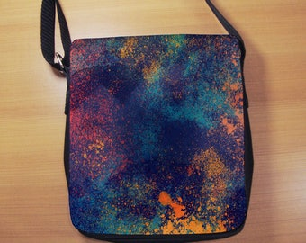 Colorful Grunge Small Shoulder Bag, Abstract, Paint, Small Crossbody Bag, Small CrossBody Purse, Cross Body Bag, Sling Bag, Small Purse, Bag
