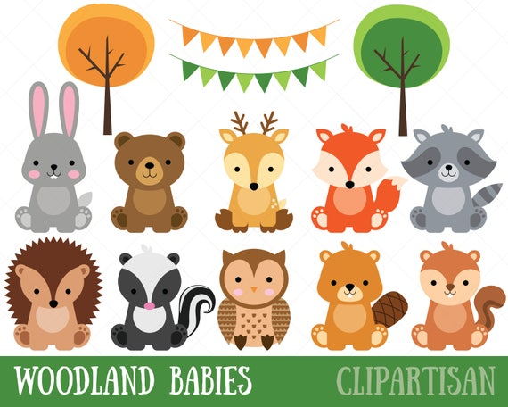 woodland baby animals clipart forest animal clipart rh etsy com animals clipart free animals clipart free download