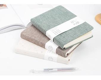 Linen cover notebook,Art journal,Sketchbook,Planner,Diary,Hard cover notebook,Notepads