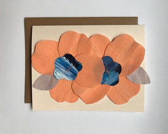 Iggy - Paper Flowers Blank Card - 2018