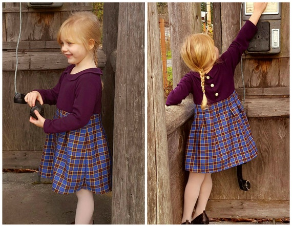 Pauline Girl Baby Girl Dress Pattern Pdf Sewing Jersey Knit