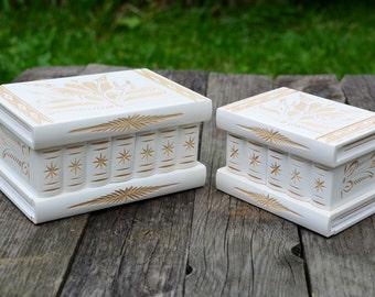 Unique wedding gift for couple, wood home decoration, decorative boxes, wooden jewelry box set, puzzle box wood jewelry holder, secret box