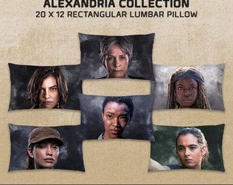 Women of Alexandria: The Walking Dead-inspired Rectangle Pillow