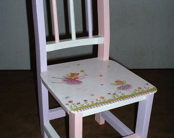 "SMALL chair ""elves in the garden"""
