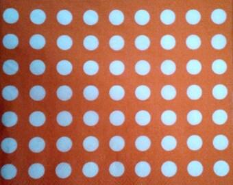 Paper towel orange polka dots