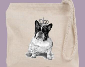 Royal Bulldog Dog Walking Wristlet Mini Tote