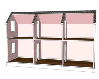 Doll House Plans for American or 18 inch dolls 5 Room on autocad 3d design, engineering house design, google sketchup house design, radiant heating installation and design, classic house design, art house design, cnc house design, japanese tea house design, top house design, building structure design, box structure design, technical drawing and design, business house design, fab house design, support structure design, solidworks house design, architecture house design, 2d house design, house structure design, manufacturing house design,