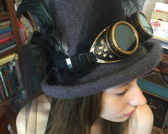 Steam Punk Knit Felt Top Hat Pattern