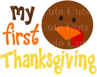 My First Thanksgiving Turkey Cuttable, dxf, eps, png, jpeg, svg, silhouette, circuit