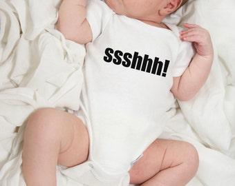 Baby onesie, ssshhh!