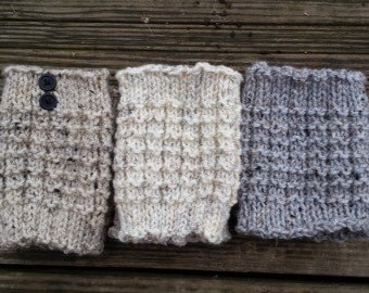 Knit Boot Cuffs Gift Set - Boot Toppers - Leg Warmers - Gifts for Her - Women's Accessories