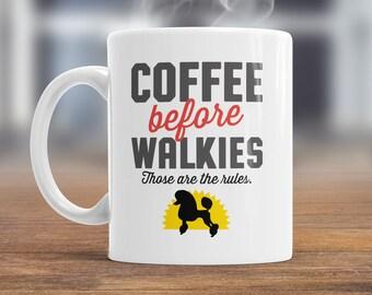 Poodle Mug, Poodle Gift For The Poodle Lover Who Also Loves Coffee, Poodle Coffee Mug, Dog Lover Gift, Poodle Present, Dog Mug